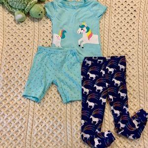 2T toddler girls unicorn pj's